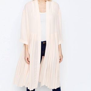 ASOS Blush Pleated Duster